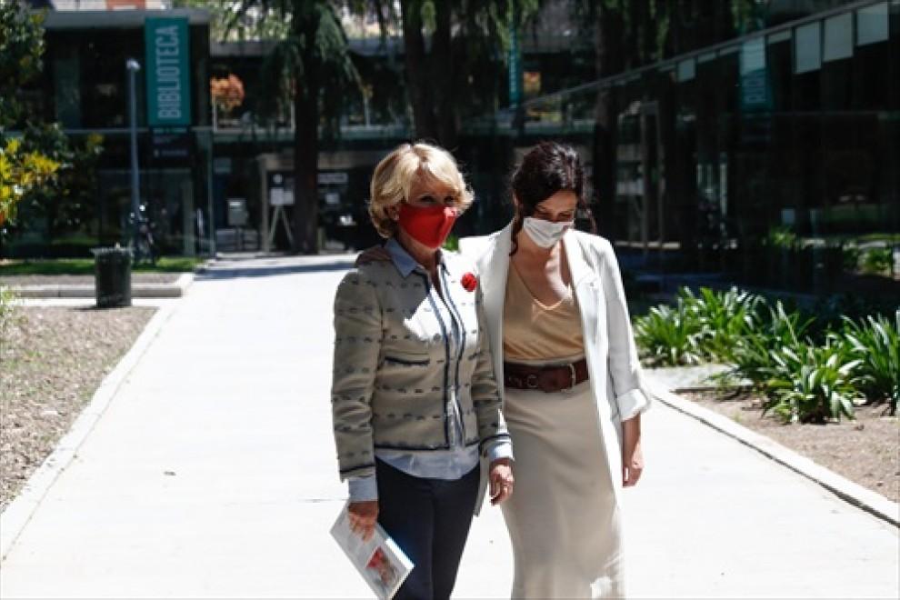 Foto de Archivo: Isabel Díaz Ayuso acude a la presentación del nuevo libro de la expresidenta regional Esperanza Aguirre.