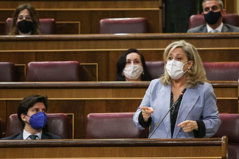 La veterana diputada popular Macarena Montesinos, en un pleno en el Congreso el pasado mes de mayo.