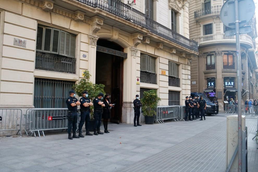 Edifici de la prefectura de la Policia Nacional de Via Laietana. Imatge del 27/05/2021