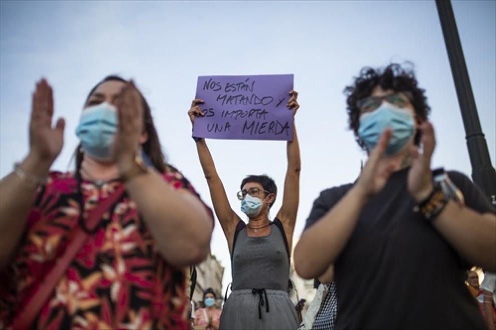 Concentración en Madrid para exigir el Pacto de Estado contra la Violencia de Género