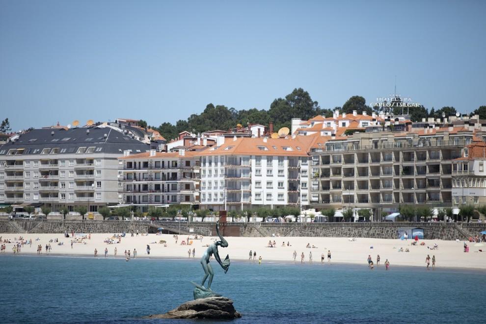 Vista de la playa de Sanxenxo (Pontevedra, Galicia). E.P./Beatriz Ciscar
