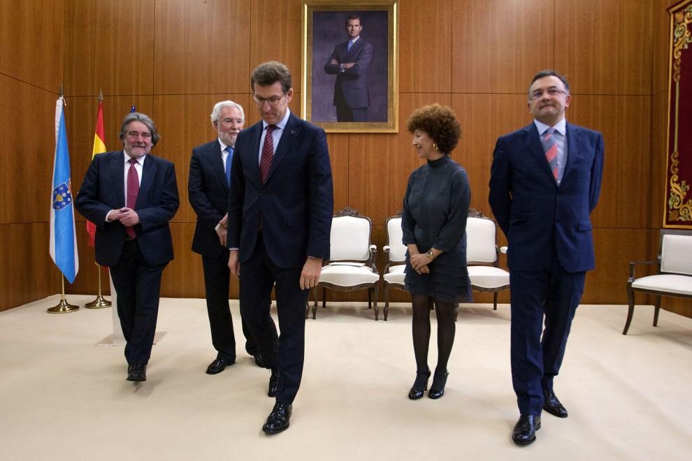 Feijóo, en marzo, en la toma de posesión de consejeros del Consello de Contas