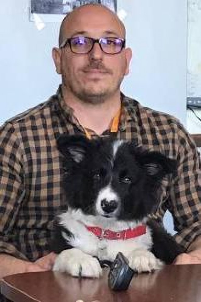 Gonzalo Moratorio y su perro Omar.
