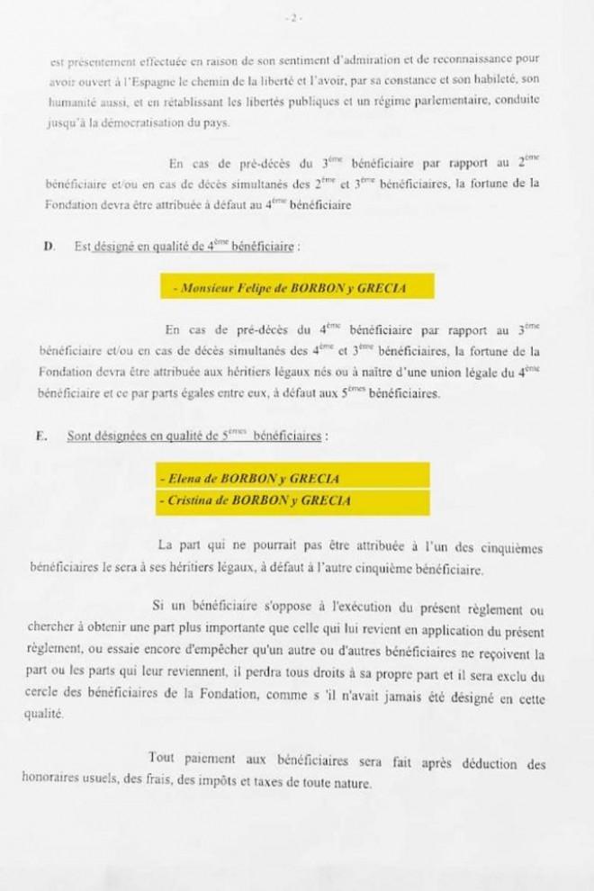 Segunda página del reglamento de la Fundación Zagatka, publicado por 'El País'.