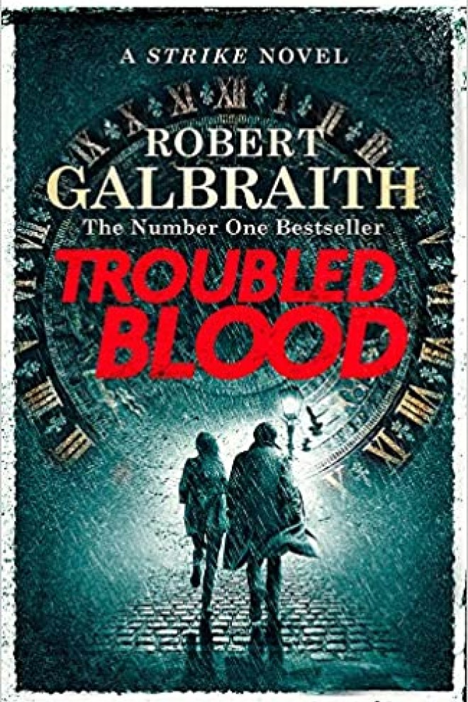Portada del libro Troubled Blood de J. K. Rowling. /Amazon