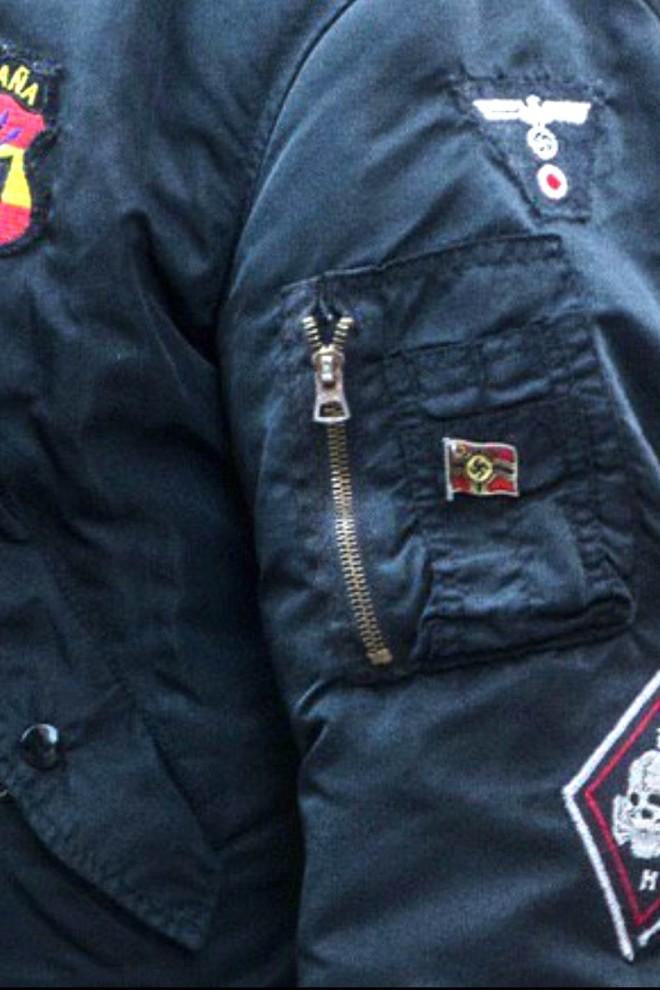 La manifestación de la ultraderecha en el barrio valenciano de Benimaclet fue una exhibición de simbología nazi.