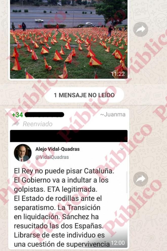 """Tuit de Vidal-Quadras: """"Hay que librarse de Sánchez""""."""
