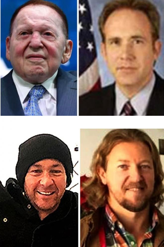 Sheldon Adelson, Brian Nagel, Zohar Lahav y David Morales.