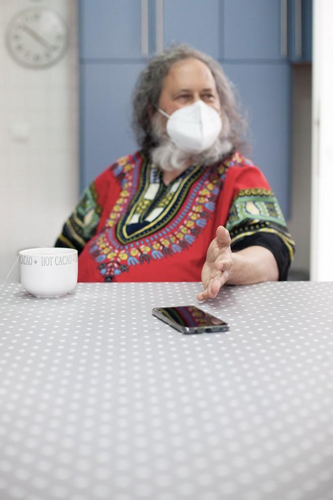 Richard Stallman, el creador del software libre, en una entrevista con 'Público'.