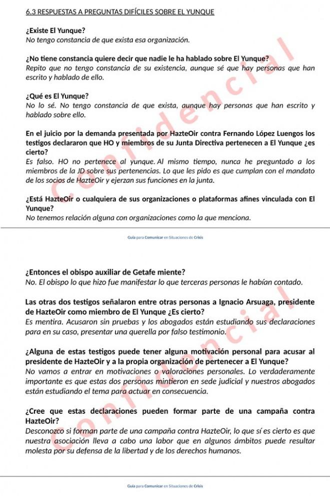Págs. 14 y 15 de la Guía para Comunicar en Situaciones Difíciles tras la sentencia sobre los vínculos de Hazte Oír con El Yunque. – WL