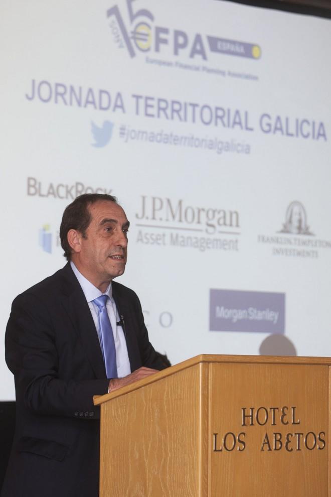 Valeriano Martínez, conselleiro de Facenda de la Xunta de Galicia