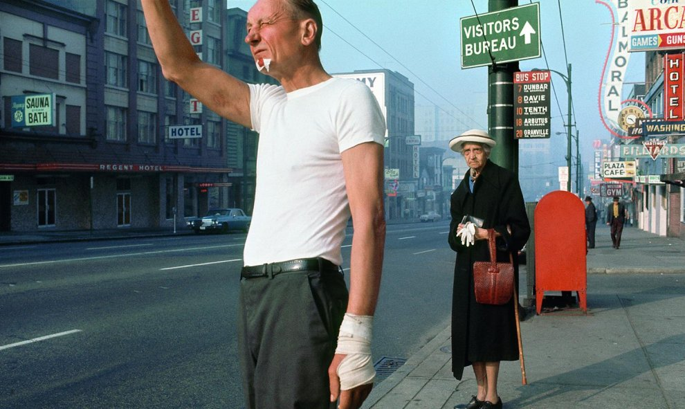 Man with bandage, 1968.- Fred Herzog, Courtesy of Equinox Gallery, Vancouver