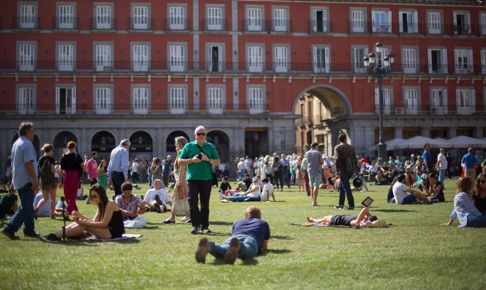 La Plaza Mayor recupera su papel protagonista en la capital. / C.G