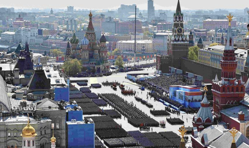 A general view of the Victory Day parade at Red Square in Moscow. REUTERS/Host Photo Agency/RIA Novosti