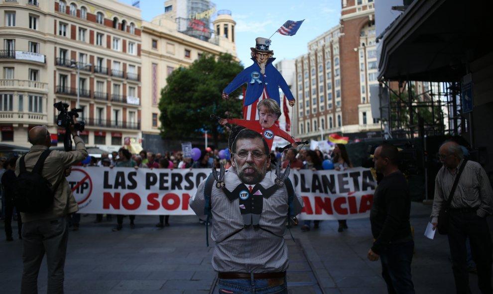 Una de las columnas de las Marchas de la Dignidad en Madrid.- JAIRO VARGAS