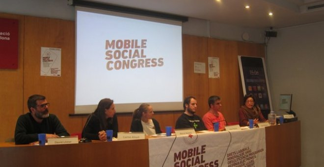 La roda de premsa on s'ha presentat el Mobile Social Congress. EUROPA PRESS