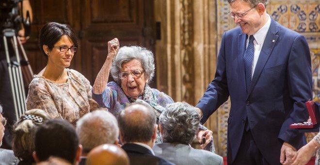 Alejandra Soler recibió la Alta Distinción de la Generalitat.- EFE