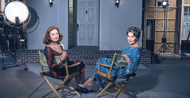 Susan Sarandon y Joan Crawford interpretan a Bette Davis y Jessica Lange en Feud.