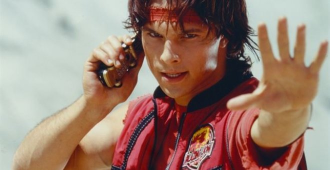 "El actor Ricardo Medina, ""Power Ranger"" Rojo"
