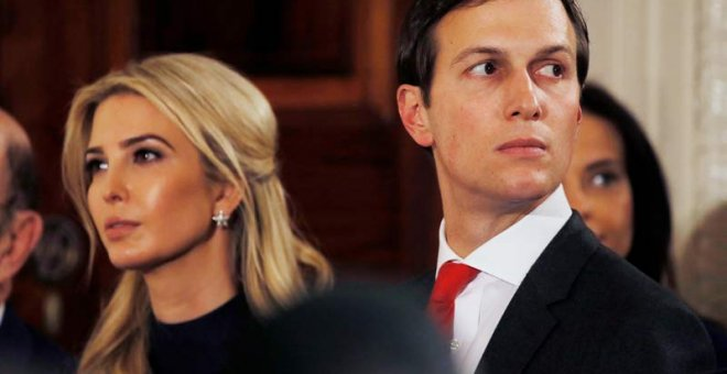 Ivanka Trump y su marido Jared Kushner durante la reciente visita de Angela Merkel a Washington. | REUTERS