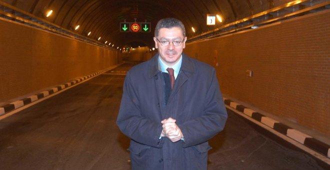 Alberto Ruiz-Gallardón, en uno de los túneles de la M-30. (Ayuntamiento de Madrid)