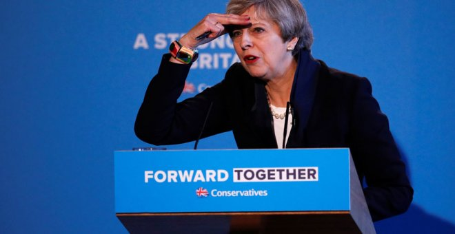 Theresa May, durante su rueda de prensa. REUTERS/Phil Noble