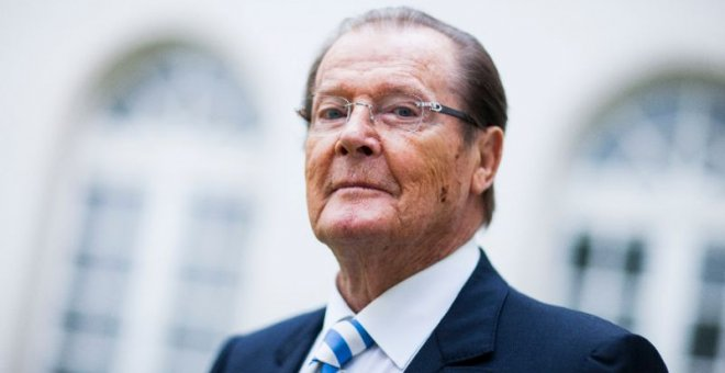 El actor Roger Moore. AFP