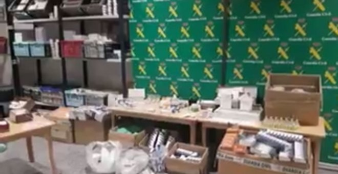 Laboratorio ilegal de anabolizantes desmantelado por la Guardia Civil.