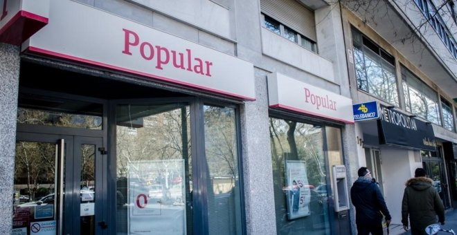 Sucursal del Banco Popular en Madrid. E.P.