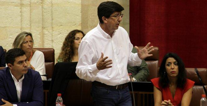 Juan Marín, portavoz del Grupo parlamentario de Ciudadanos, en el Parlamento andaluz