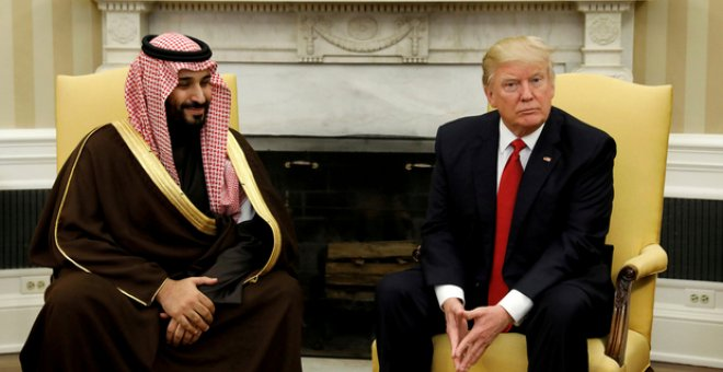 Foto de archivo de Mohammed bin Salman y Donald Trump, en Washington. / REUTERS