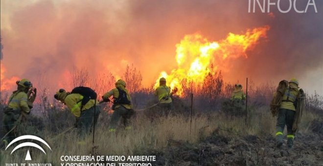 Incendio el Huelva.Europa Press/INFOCA
