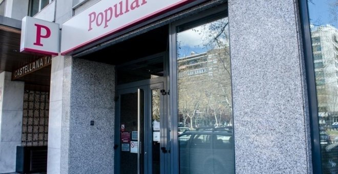 Oficina del Banco Popular en Madrid. E.P.