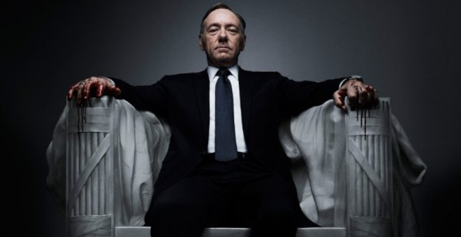 El actor Kevin Spacey en la serie 'House of Cards'.