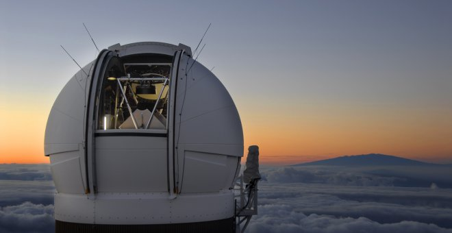 Telescopio Pan-Starrs en Hawai, que descubrió el asteroide foráneo./IFA-UNIVERSITY OF HAWAII