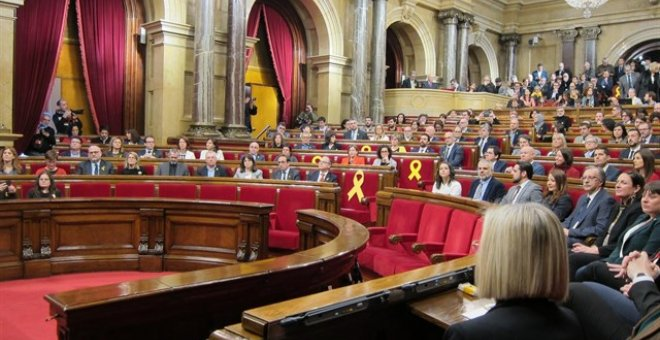 Pleno de constitución del Parlament de la XII Legislatura. EUROPA PRESS