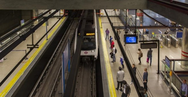 Una estación de Metro de Madrid. EUROPA PRESS