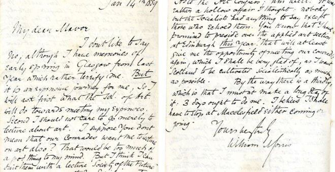 Carta de William Morris a 'Mavor'.- GSA ARCHIVES