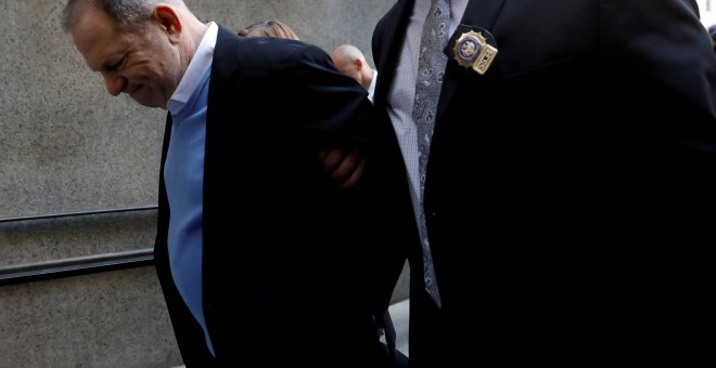 Harvey Weinstein, a su llegada al tribunal criminal de Manhattan. - REUTERS