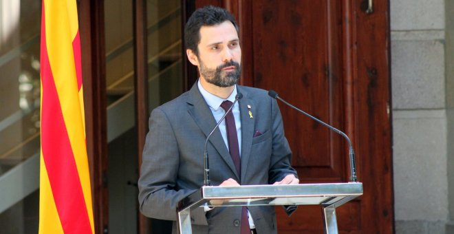 El presidente del Parlament, Roger Torrent. / Europa Press