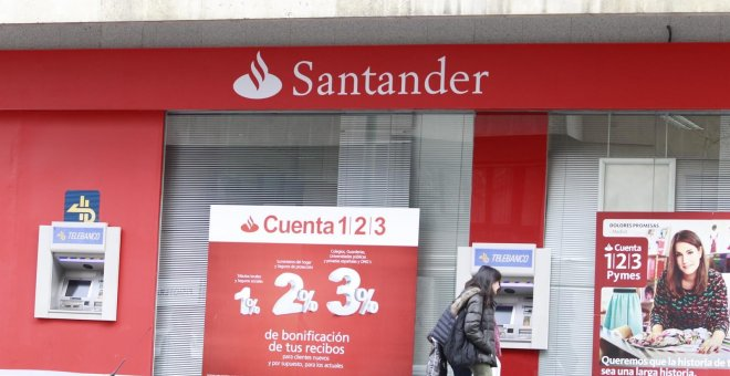 Sucursal del banco Santander. EUROPA PRESS/Archivo