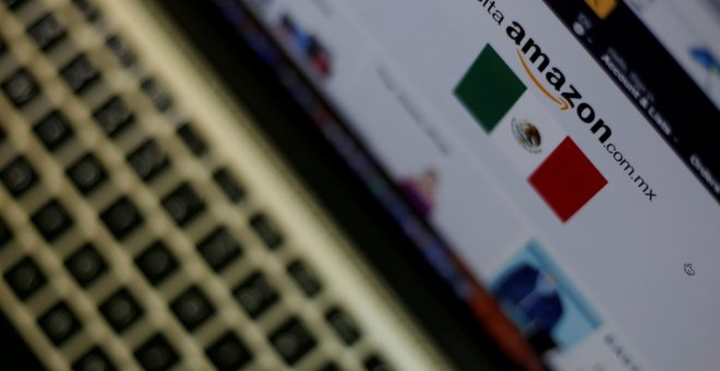 Amazon en un ordenador. REUTERS/Carlos Jasso/Illustration