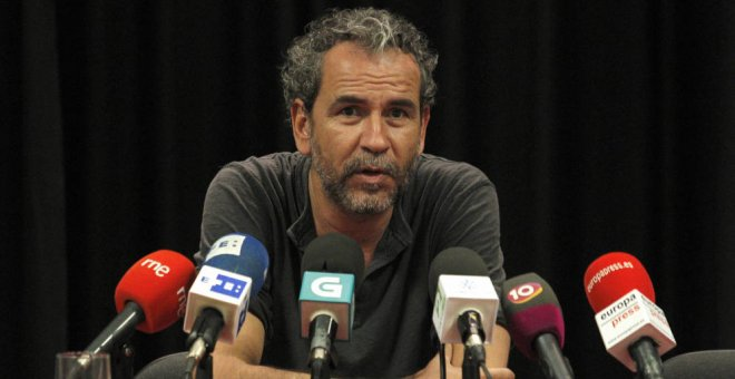 El actor Willy Toledo durante una rueda de prensa. EFE/Archivo