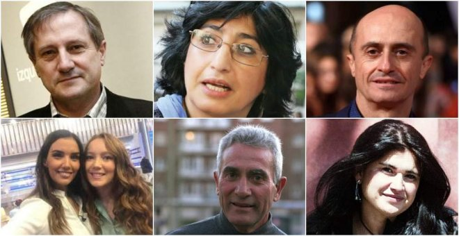 Willy Meyer, Nazanin Armanian, Pepe Viyuela, Towanda Rebels, Diego Cañamero y Lucía Etxebarria.