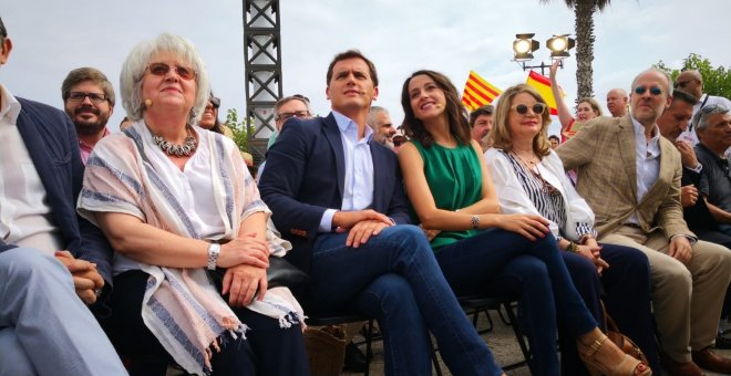 Albert Rivera junto a la presidenta de Cs en Catalunya, Inés Arrimadas./EUROPA PRESS