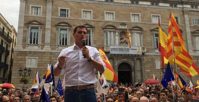 Albert Rivera durante el acto. Europa Press