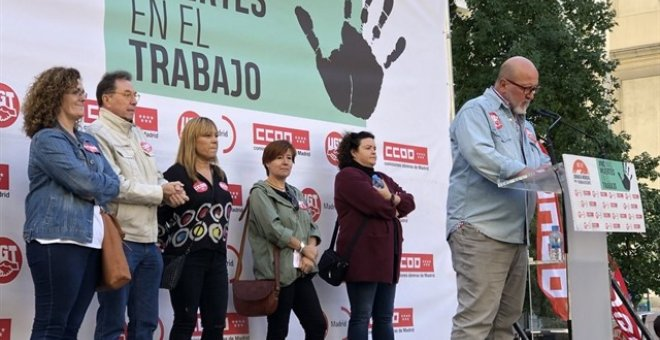 CCOO y UGT claman en Madrid contra los accidentes laborales mortales. / EP
