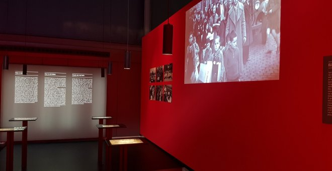 Imagen de la exposición 'La infancia bajo las bombas', en El Born CCM