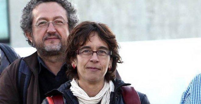 Los documentalistas procesados Carolina Martínez y Clemente Bernad.