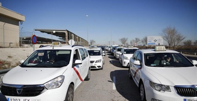 Taxis en Madrid. Eduardo Parra | EUROPA PRESS